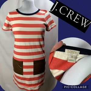 J.Crew color block striped dress with pockets